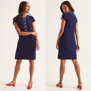 Boden Gracie Ponte Navy Dress Size 8R